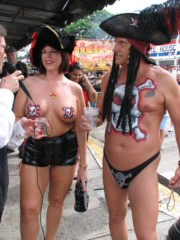 Fantasy Fest in Key West, Florida. Girls Flashing Tits and Ass in Public. Women wearing Costumes and Mesh, Naked and Topless Girls Flash what they got