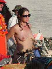 Girls and Guys dressed up in Costumes, Topless and Nude at Burning Man 23
